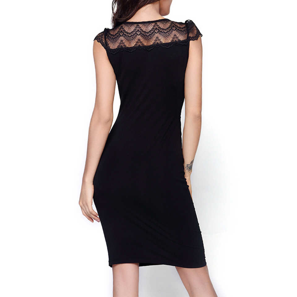 c437fecd58b0e MMBABY Pregnant Women's Sleeveless Maternity Nursing Dress Black Lace  Elegant Party Dresses For Lady