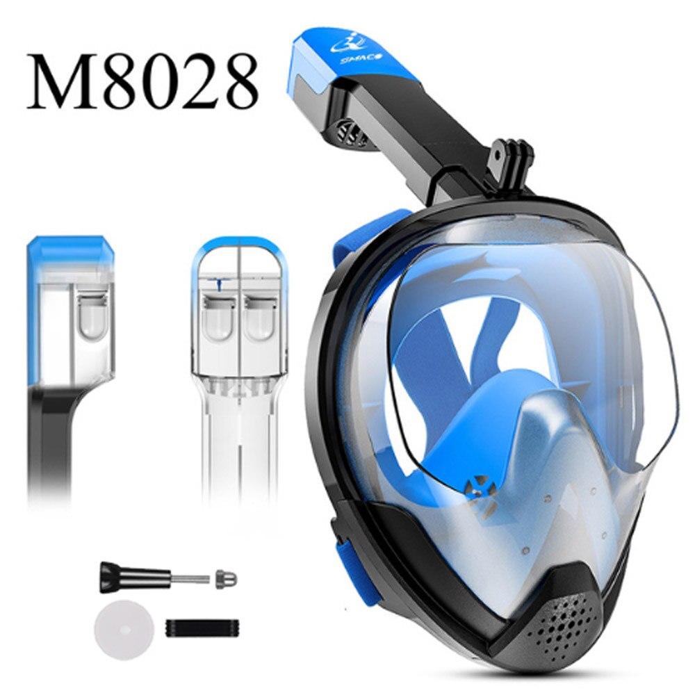 2019 nouveau masque de plongée en apnée plein visage ensemble plongée sous-marine masque de natation formation plongée sous-marine Mergulho masque de plongée pour caméra Gopro - 4