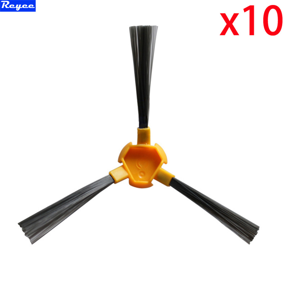 10 pcs/lot Side Brush for Ecovacs Deebot Deepoo D58 D54 D56 520 526 527 528 540 550 560 570 580 Vacuum Cleaner brush Accessories 3500mah 14 4v cleaner battery for ecovacs deebot d54 deepoo d56 d58 with free side brush