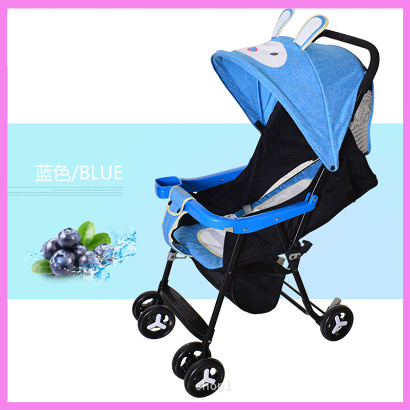 Summer Light Baby Stroller Can Sit Lie Portable Folding Travel Airplane Baby Carriage Cart Umbrella Stroller Back Organizer Bag mige stroller baby trolley cart folding baby carriage baby cart can be lying on the baby cart portable cart pram with 3 gift