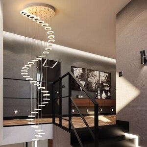 Image 2 - Modern LED avize oturma odası kolye lamba yatak odası armatürleri merdiven asma işıklar restoran asılı aydınlatma armatürü