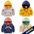 Nueva moda de algodón con capucha bebé ocasional sudadera de manga larga impresión de la letra ocasional hoodies del cabrito niños clothing 2017