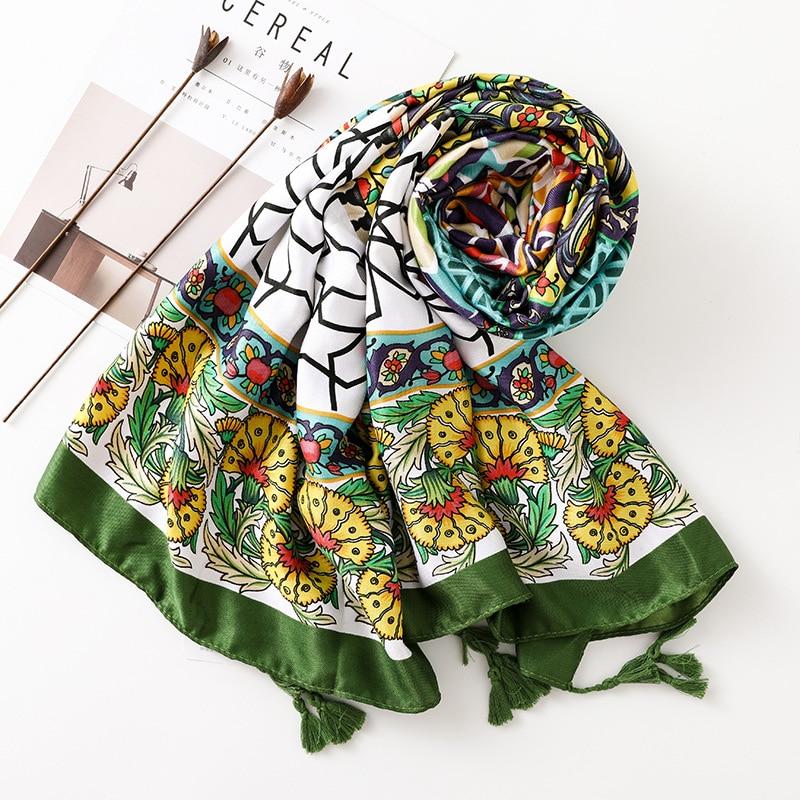 Women's Mosaic Boho Style Warm Scarf 2