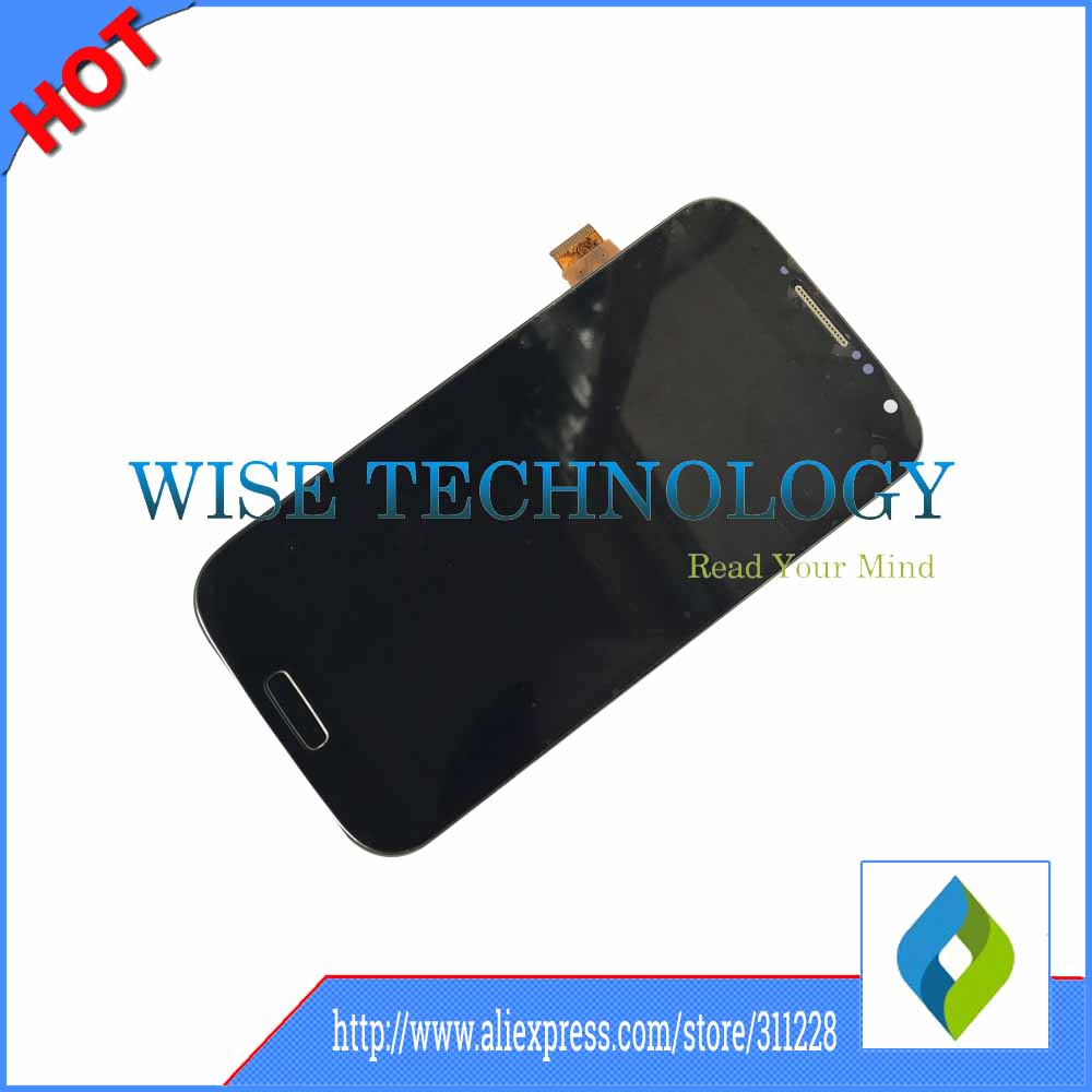 ФОТО 10pcs/lot For Samsung Galaxy S4 i9506 GT-i9506 LCD screen display touch screen digitizer with frame assembly black white blue