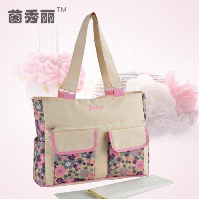 Hot Sales Free Shipping Waterproof Mommy Bag Fashion Nappy Bags Multifunction Baby Diaper Bags