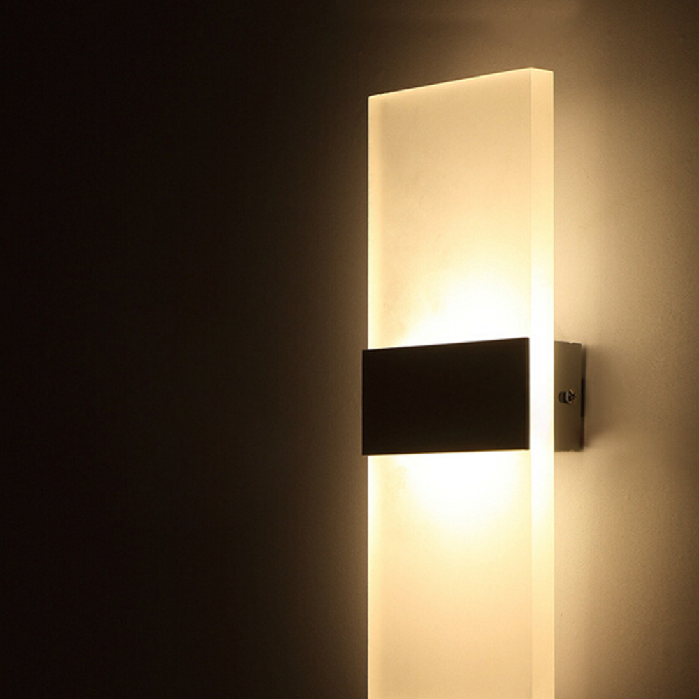 Decorative Wall Lights For Home : Cheap AC100 265V Modern 6W LED Wall Lights Room Office Canteen Acrylic Wall Sconce Lamp Home ...