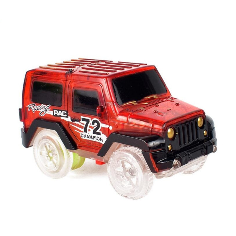 Electronics LED Car Toys Flashing Lights Boys Birthday Gift Kids Toy Play with Track Together