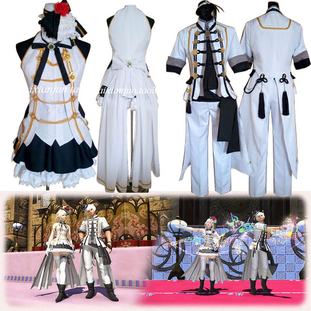 US $123 13 9% OFF|FF14 Final Fantasy XIV Hina Matsuri Girls' Day Idol  Cosplay Costume Outfit Set-in Game Costumes from Novelty & Special Use on