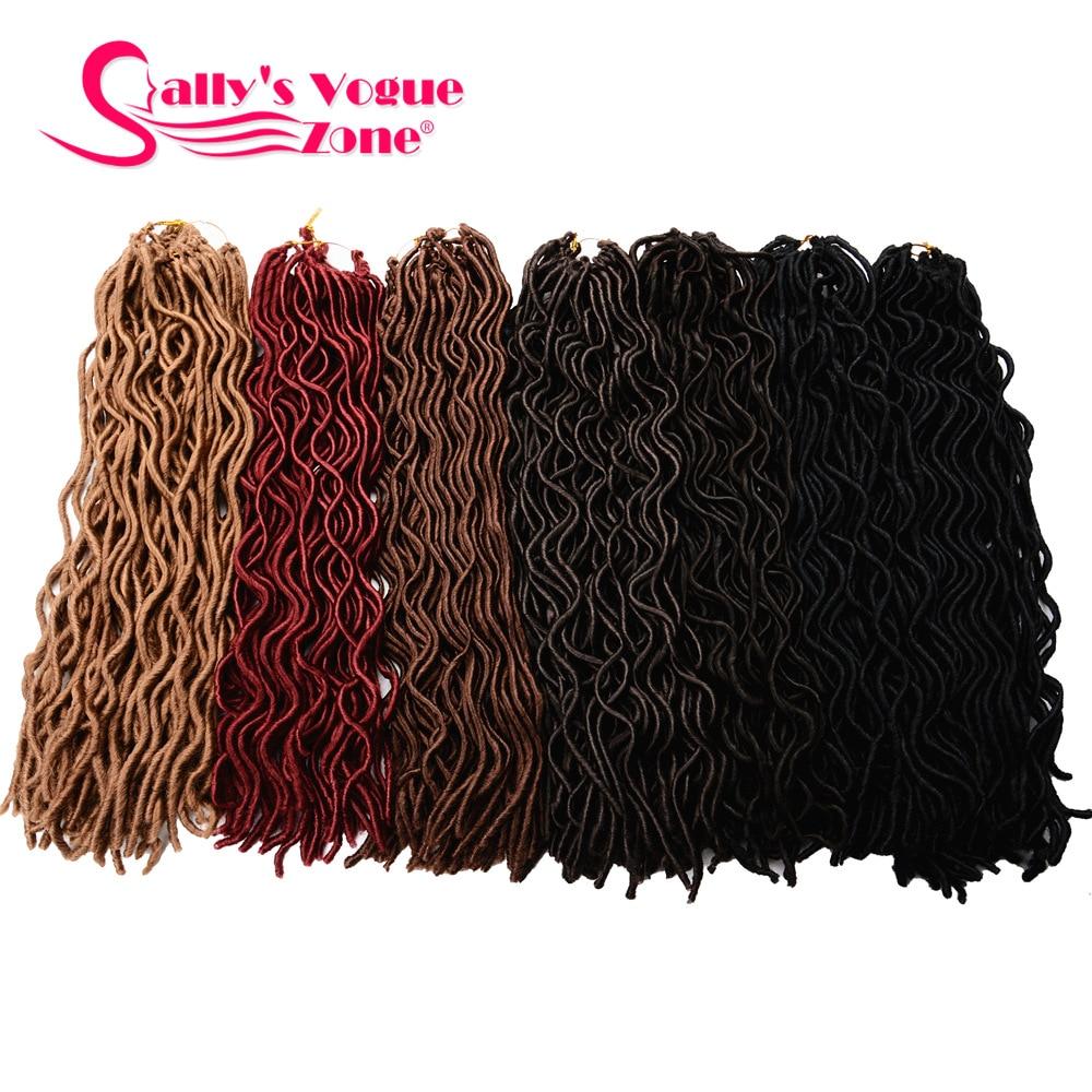 """1 pachet 24 toroane / pachet 10 """"18"""" 8 culori Sallyhair croșetate îmbrăcăminte lămpi de extensie a părului pentru femei negre"""