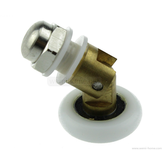New 8pcs Copper  Shower Door Enclosures Rollers Runners Wheels Pulleys 25mm Dia