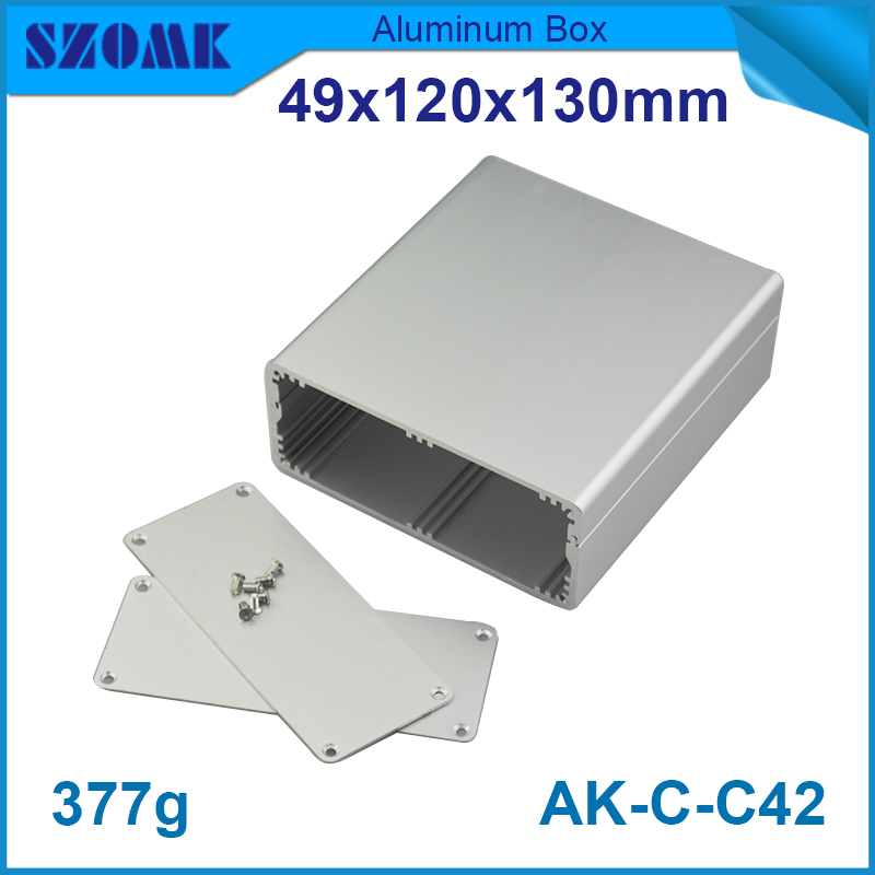 1 piece free shipping aluminum router enclosure case acrylic project enclosure 49*120*130mm 1.93*4.72*5.12inch aluminum electrolytic capacitor for diy project 120 piece pack