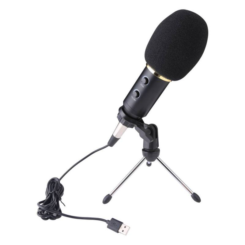 USB Microphone MK-F600TL Studio Karaoke Condenser Wired Microphone For Computer Video Recording Handheld Microphone With Tripod