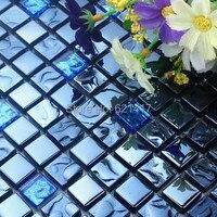 Tiefblauen glasmosaik küche backsplash glas mosaik-fliesen badezimmer dusche mosaik mini quadratischen säule mosaik fliesen