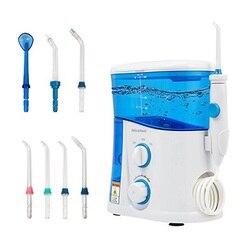 Elétrica dental água flosser irrigador oral com 7 dicas multifuncionais cuidados com os dentes mais limpos com função de desinfecção uv