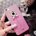 Bling Лук ТПУ Мягкая Коке Чехол для IPhone6 и 6 Плюс с Роскошной Моды Шинни Кристалл Алмаза Лучший Телефон Случае Подарок для женщины