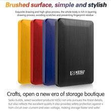 Kesu 1 ТБ usb 3,0 внешний жесткий диск 2 ТБ 500G высокий диско внешний HDD usb оригинальное запоминающее устройство милый usb флеш-накопитель 120Gb