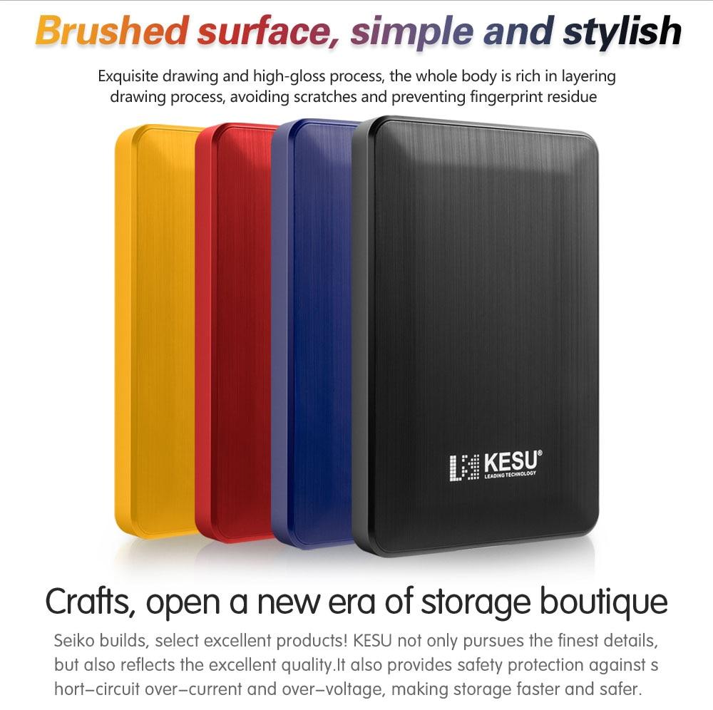 Kesu 1 tb usb 3.0 disco rígido externo 2 tb 500g alta disco externo hdd usb dispositivo de armazenamento original bonito usb flash drive 120 gb