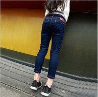 Frühling 2018 neue mädchen jeans femme hosen füße hohe elastische enge elastische hose 2-8 Jahr
