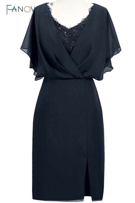 Enkel Elegant Mor Brudklänningar Chiffon Brudgummens Mor Klänningar - Bröllopsfestklänningar - Foto 5