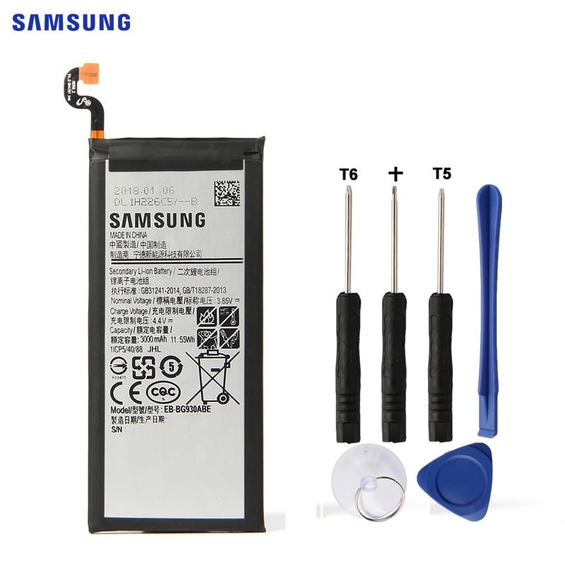 SAMSUNG Bateria Original EB-BG930ABE Para Samsung GALAXY S7 SM-G9300 G930F G930A G930L G9308 G930V SM-G930L SM-G930P G930 3000 mah