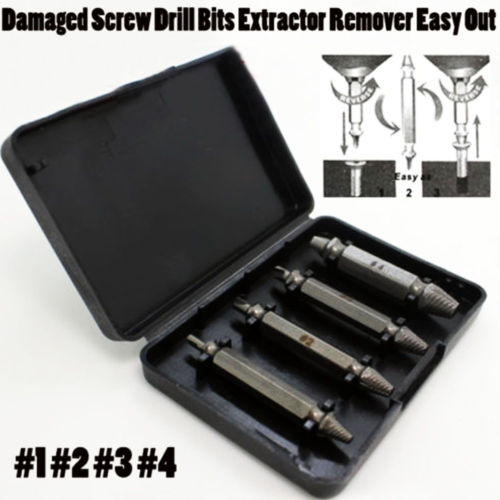 Fixmee 4pc Screw Extractor Drill Guide Set Removal Broken Screw Bolts - Foret - Photo 4