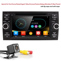 Wholesale! 2Din 7Inch Car DVD Player For Ford/Focus/Mondeo/Transit/C MAX/Fiest With GPS Navigation Radio BT 1080P Ipod FM/AM Map