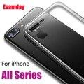 Esamday Clear Silicon Soft TPU Case Voor 7 8 6 6 s Plus 7 Plus 8 Plus X XS MAX XR Transparante Telefoon Case Voor iPhone 5 5 s SE 6 sPlus