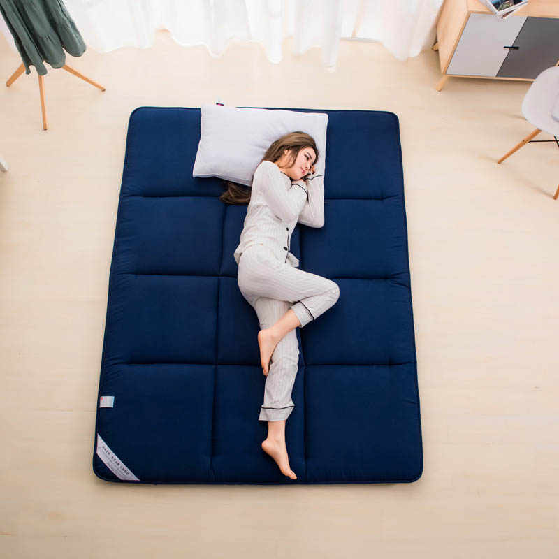 Foldable Anti Slip Tatami Mattress Pad Floor Mat Carpet Sleeping Rug Lazy Bed Mats for Bedroom and Office