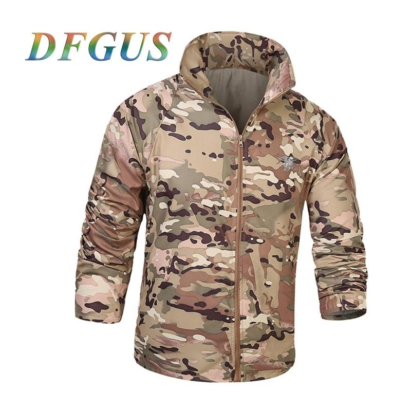 US Army Tactical Militar Skin Jacket Men UPF50+ Waterproof Fast Dry Outdoors Raincoat Windbreaker Thin Military Camo Jacket