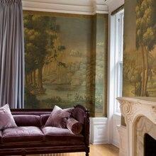 Элегантная классическая картина(Западная живопись) Ручная роспись шелковые обои Картина пейзаж обои широкий выбор мотивов и фона опционально