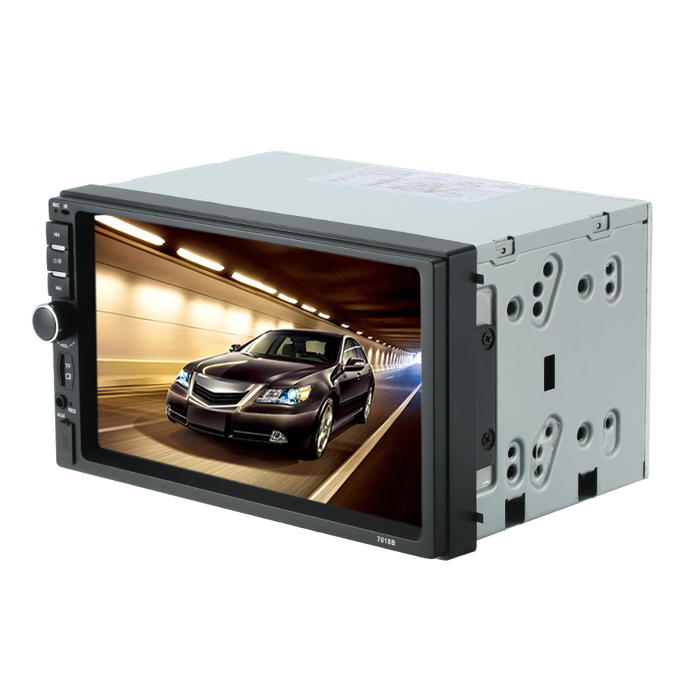 Горячие продажи 7-дюймовый Универсальный 2 DIN полный HD мультимедийный плеер беспроводной связи Bluetooth, подключение mp3/МР4/МР5 и TF/USB Автомобильный монитор замена
