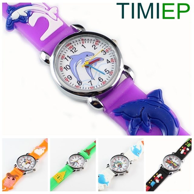2018 New 3D Silicon Cartoon Character Kids Watch For Boys Girls Quartz Wrist Wat