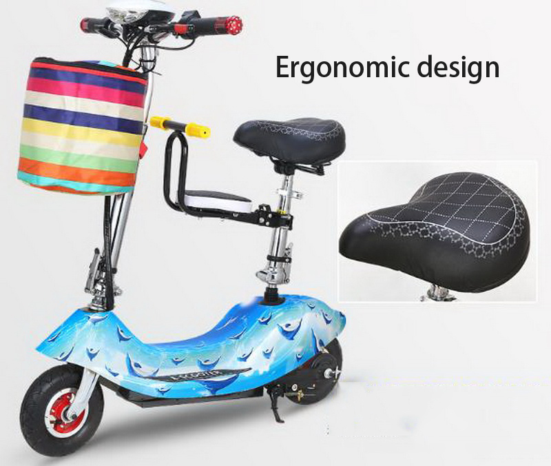Cheap 261025/Ladies mini folding car bicycle scooter adult student portable two rounds/Scrub pedal 30-50km/h velo electrique 11