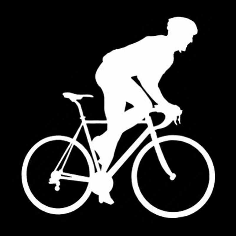 QYPF 12.2 cm * 12.6 cm Kişilik Araba Styling Vinil Bisiklet Araba Sticker Siyah SilverS2-0057