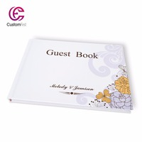 Free shipping Personalized custom Guestbook for wedding engagement and party whole set available GB014