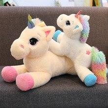 Large Stuffed Animal Baby Dolls Kawaii Cartoon Rainbow Unicorn Plush baby toys Kids Present horse Children Birthday Gift