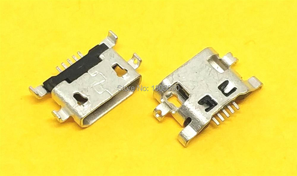 100pcs Micro USB Reverse Heavy Plate 1.2 Charging Port Connector For Lenovo A708t S890 / For Alcatel 7040N For HuaWei G7 G7-TL00
