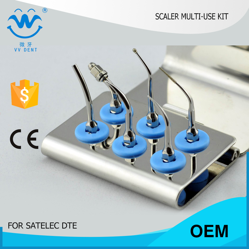 1 set SMUKS scaler multi use tips kit fit Satelec Endo ultrascahall scaler of oral dental dental material endo apex locator root canal finder testing cord files fit j2