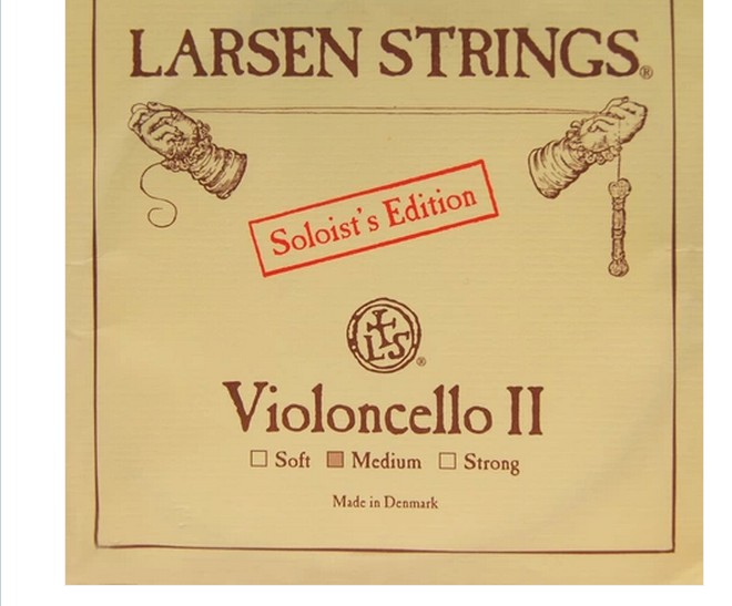 Penghantaran Percuma Larsen pemain solo cello strings tunggal D-2 Cello String dibuat di Denmark