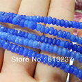 Hot Sale New Fashion Blue Jade Jasper 2x4mm Stone Faceted Rondelle Abacus Loose Beads Spacer Women Diy Jewelry 15inch GE768