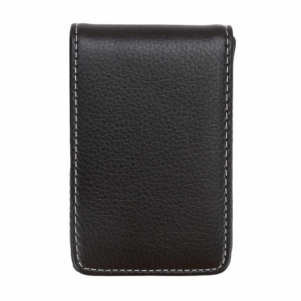 Brand Wallet Leather Credit Card Holder RFID Fashion Men's Vertical Leather Large Capacity Storage Business Card Holder#L3$