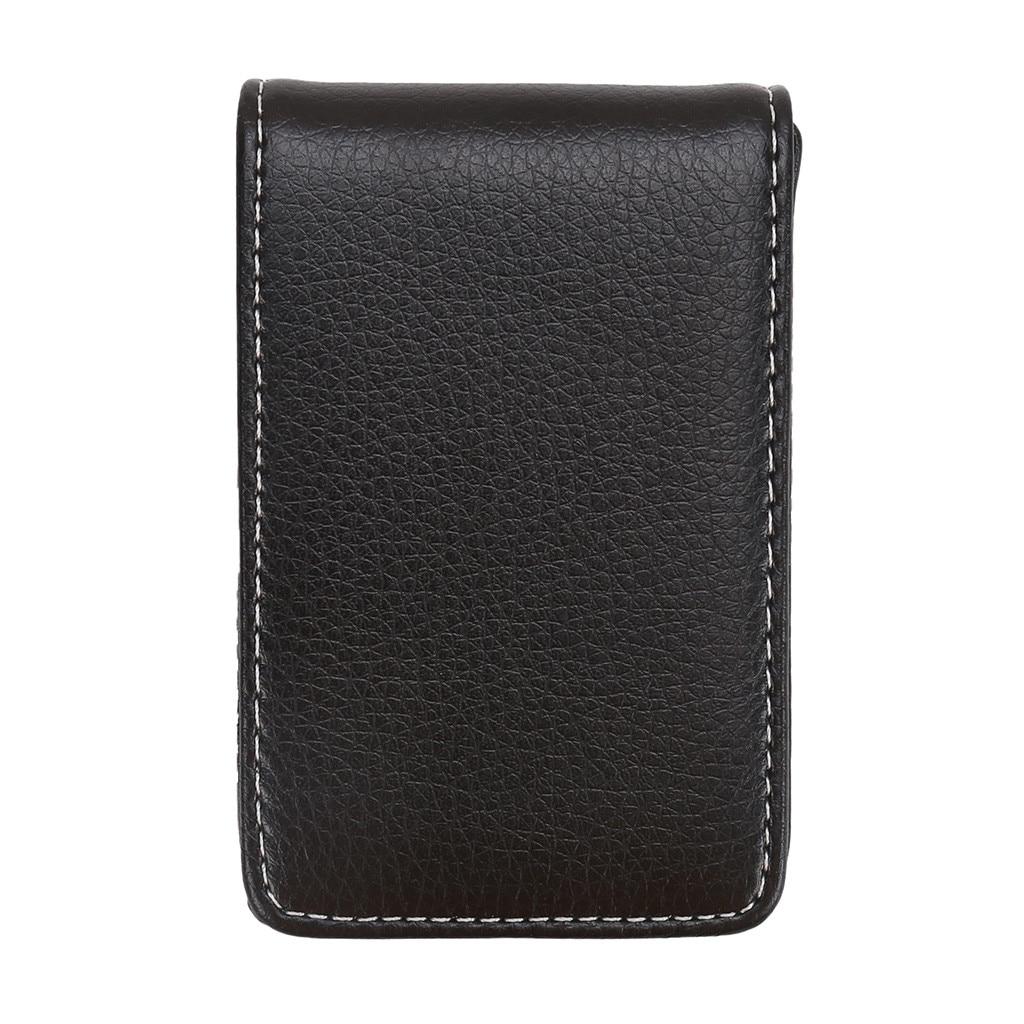 Brand Wallet Leather Credit Card Holder RFID Fashion Men's Vertical Leather Large Capacity Storage Business Card Holder#L3$