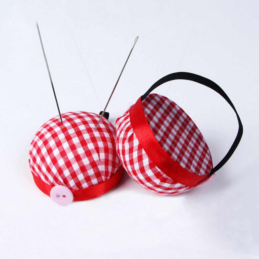 New Ball Shaped Needle Pin Cushion With Elastic Wrist Belt DIY Handcraft Tool for cross stitch sewing home Sewing Kit
