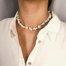 Crystal Beaded Necklace Simple Transparent Original Stone Single Layer Ladies Fashion Wild