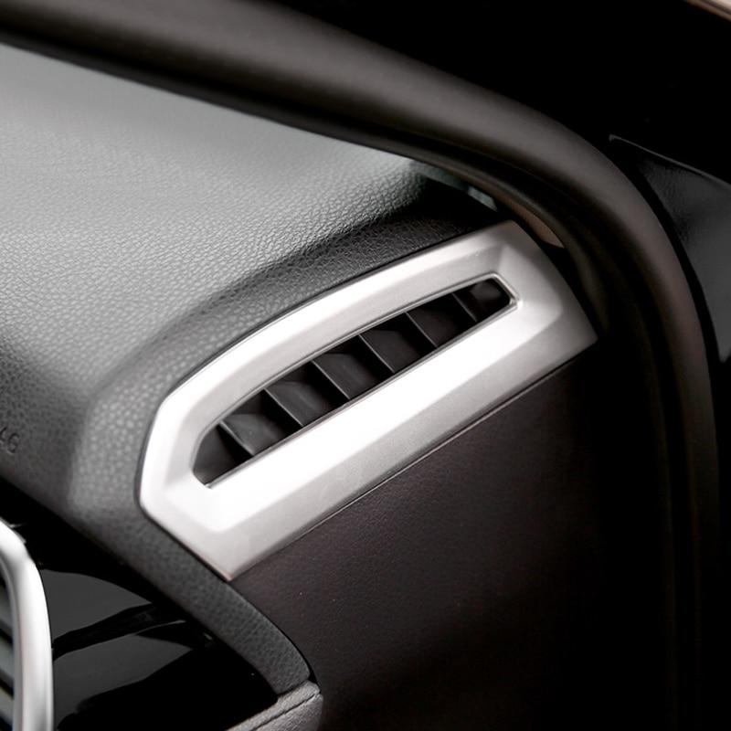 ABS матовый внутренний верхний AC вентиляционное отверстие розетки рамка Обложка отделка из 2 предметов для Toyota Camry XV70 2018