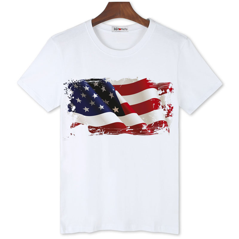 BGtomato 3D American flag T shirts for men Summer cool ...