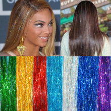 New Fashion Womens Hair Tinsel Loop Feather Extension 35 90cm Synthetic Bling