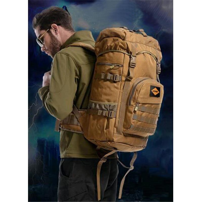 Herrentaschen Nylon High-End-Rucksack Schüler Schultasche wasserdicht große 17-Zoll-Flachbild-Laptop-Tasche 50L Reisetasche Fr