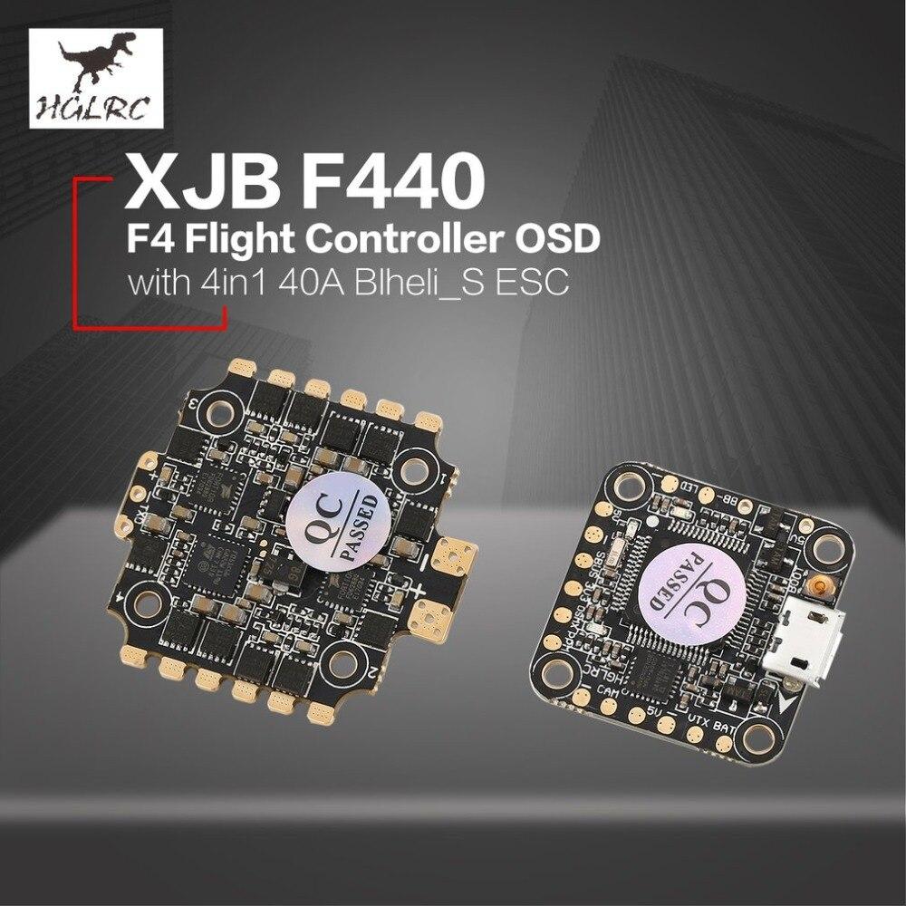 HGLRC XJB F4 contrôleur de vol tour Betaflight OSD 2-4 S 4in1 Blheli_S ESC pour 65mm-250mm RC course quadrirotor Drone