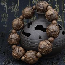 Множественный выбор тибетского буддизма похоронен Ebony молитва Бусины и бисер Мала Будда браслет четки деревянный браслет высокое качество изделия